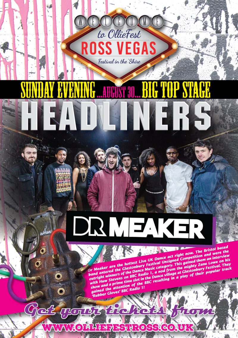 Dr Meaker Headlining the Big Top Stage at OllieFest on Sunday August 30th, 2020