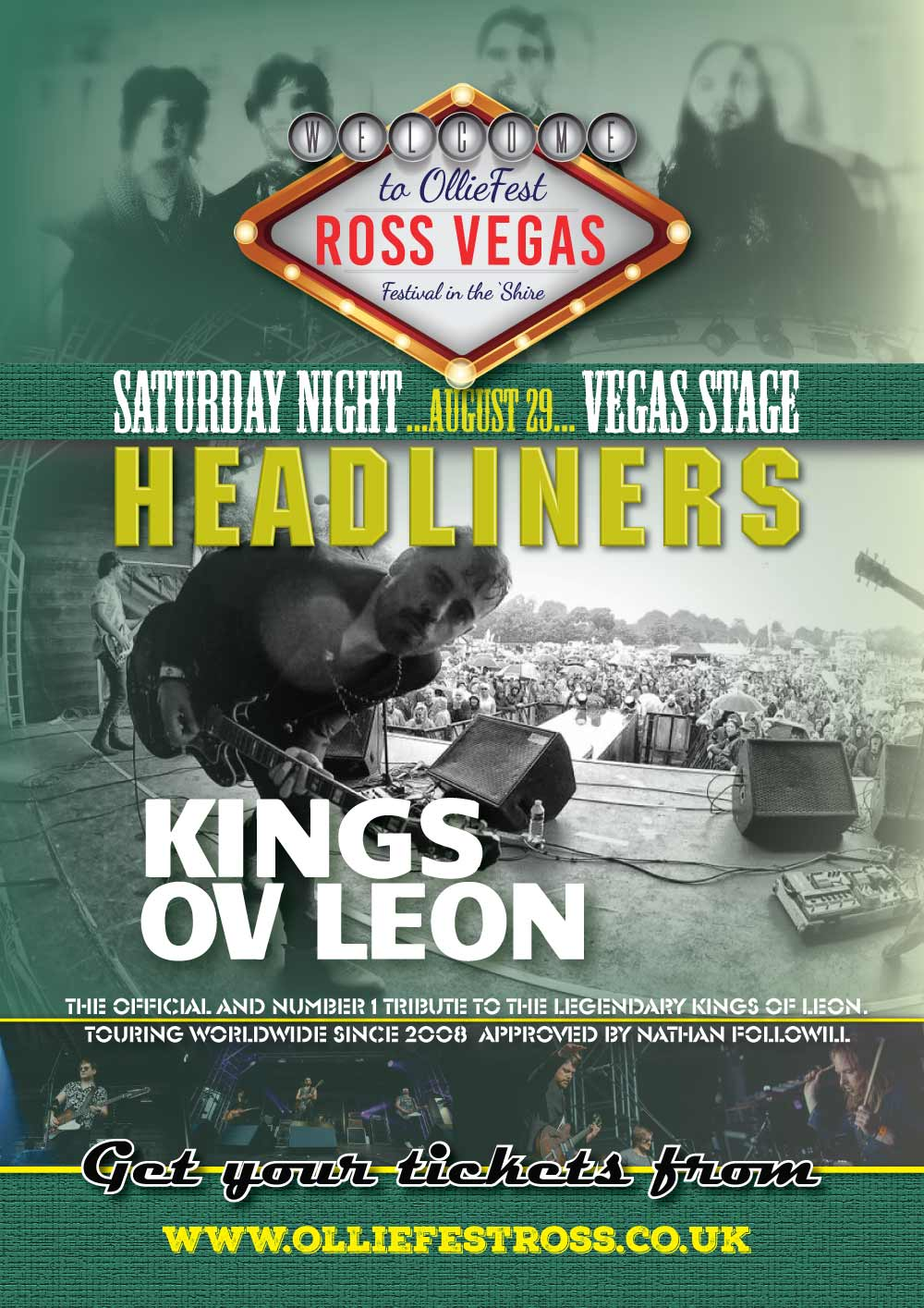Kings Ov Leon Headlining the Vegas Stage at OllieFest on Saturday August 29th, 2020