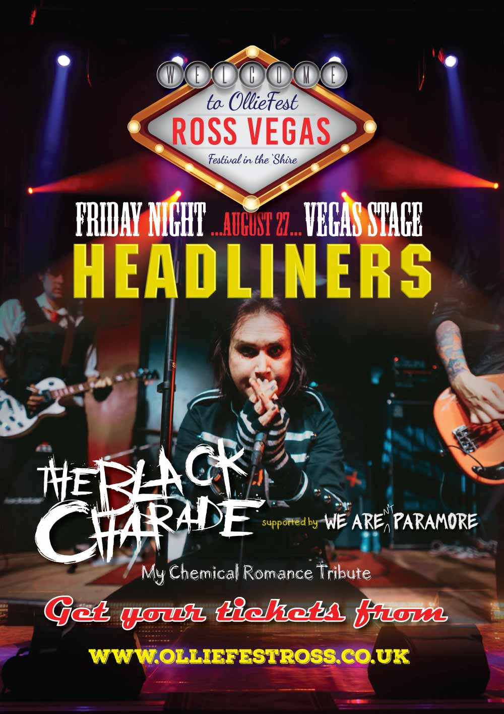 The Black Charade Headlining the Vegas Stage at OllieFest on Friday August 27th, 2021